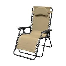 caravan sports infinity oversized beige metal zero gravity patio chair