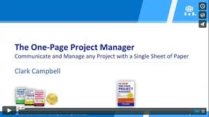One Pager Project Template One Page Project Manager