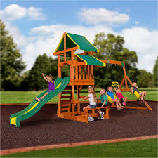 Big Backyard Ridgeview Deluxe Playset From Toys R Us Installed In Big Backyard Ashberry Wood Swing Set