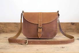 MESSENGER BAG    Brown leather bag    Satchel Leather handbag    Medium-