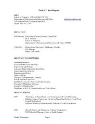 cv pharmacy cv unc eshelman school of pharmacy
