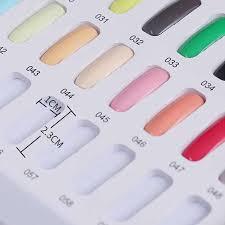 Mizhse Uv Nail Gel Polish 120 Colors Nail Art Display Color Book Chart Salon Acrylic Gel Tips Display Color Card Chart Painting