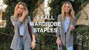 5 <b>FALL</b> WARDROBE STAPLES   how to style <b>fall</b> trends + <b>autumn</b> ...