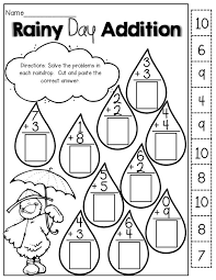 Cut and paste, Rainy days and Math on PinterestRainy Day Addition (cut and paste!)