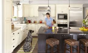 Two Tone Kitchen with Gray Cabinets in Island