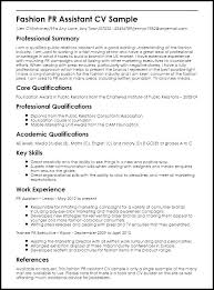 Sample Public Relations Resume Sample Resume For Public Relations ...