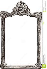 hand holding antique mirror. Vintage Mirror Drawing. Frame Drawing Antique K Hand Holding H