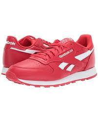 reebok classic leather sneaker red white for men