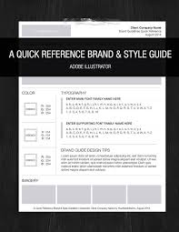 Manual Design Templates Simple Brand Style One Page Guideline Logo Templates Creative Market