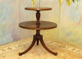 a003 vintage two tiered ducan phyfe style table