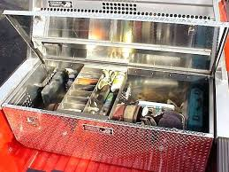 truck bed organizer diy truck tool bo fifth wheel tool bo built by highway s are