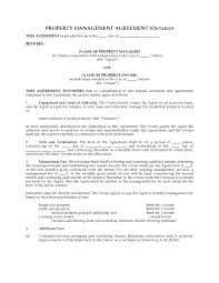 Property Management Agreements Contract Property Management Contract Template 9