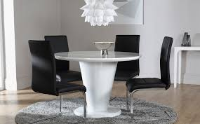 black round dining table and chairs. Paris White High Gloss Round Dining Table And 4 Chairs Set Perth In Black N