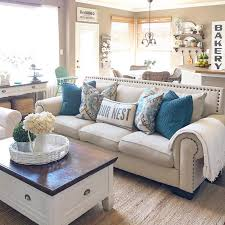 Comfy living room furniture Round Sofa Chair You Can Easily Unite Farmhouse Living Room With Kitchen Such Space Would Look Thermostopinfo 45 Comfy Farmhouse Living Room Designs To Steal Digsdigs