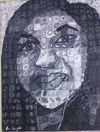 chuck close painting self portrait chuck close style by ariana vargas