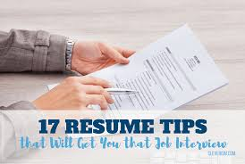 Resume For An Interview 17 Resume Tips That Will Get You That Job Interview Cleverism