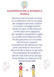 FILASTROCCA PER IL RITORNO A SCUOLA di Michela Guidi | nel 2020 |  Filastrocche, Scuola, Filastrocche scuola dell'infanzia