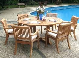 60 round patio tables teak wood inch round patio dining table 60 inch square patio tables