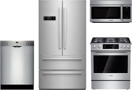 Bosch Small Kitchen Appliances Bosch 4 Piece Kitchen Package With Hgi8054uc Gas Range B21cl80sns