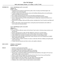 Quality Resume Samples Call Center Quality Analyst Resume Samples Velvet Jobs 8