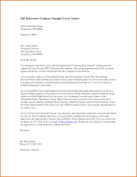 Gallery Of Cover Letter For Interview