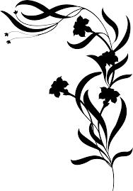 Silhouette Art Designs Floral Design Silhouette Art Clip Art Silhouette Bottom