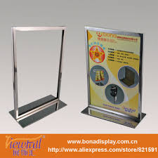 table display stands. display appliance co · metal table stand menu holder for option frame and color stands a