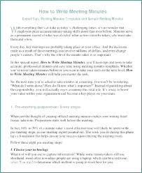 Examples Of Minutes Taken At A Meeting How To Write Effective Meeting Minutes Problem Solving