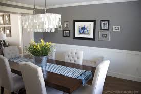 Beautifying The Master Bedroom  Dark Colors Blue Grey And Modern Chair Rail Design