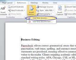 How To Do Apa Format In Word Microsoft Bibliography Builder Word 2010