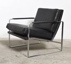 fabricius black leather armchair model 710 by walter knoll