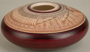 navajo pottery designs. A Navajo Pottery, Decorated Detailed Designs Bowl By Bob Lansing, Signed On Base Lansing 93 Navajo, Inscribed 92 Pottery