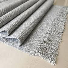 winlife cotton blending fiber carpets decorative area rugs for living room bedroom entrance doormat bedside rugs washable mats blanket sage green throw