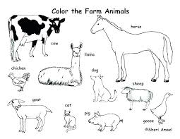 Farm Animals Coloring Pages Printable Clip Art Library Farm Animals