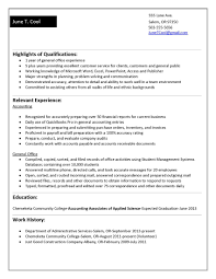 Resume Examples For College Students With Work Experience - April ...