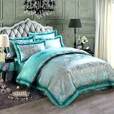 teal king size bedding teal king size bedding turquoise and gray vintage flower pattern exotic elegant luxury jacquard design satin fabric full queen size