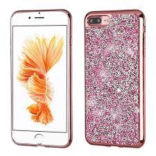 iphone 7 plus rose gold. insten hard diamante cover case for apple iphone 7 plus/8 plus, rose gold iphone plus