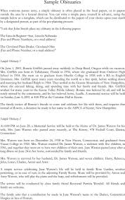 Obituary Examples | Download Free & Premium Templates, Forms ...
