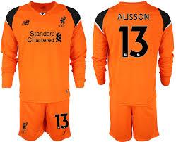 Long Goalkeeper Sleeve 2018 Alisson 19 Liverpool Jersey Soccer Orange 13 abaaaefbcacfbcb|NFL Business News Blog