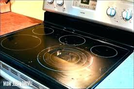 electric stove top cleaner electric stove top cleaner homemade whirlpool range glass cleaning electric stove top