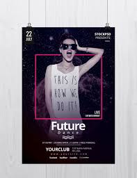 Future Dance Free Psd Flyer Template Free Psd Flyer