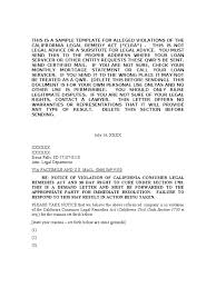 California Consumer Legal Remedies Act Demand Letter Fraud Damages