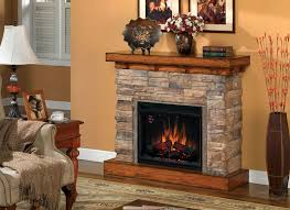 stone electric fireplace heater fire place and pits
