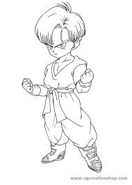 Trunks Dragon Ball Disegno Da Colorare