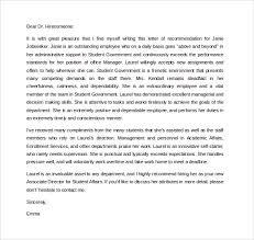 Best Ideas of Employee Re mendation Letter Sample For Graduate School About Free Download