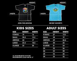 Size Charts The Aquabats