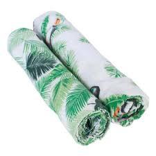 Муслиновые <b>пеленки</b> 2 шт. <b>Bebe au</b> Lait Rio/Palms — купить в ...