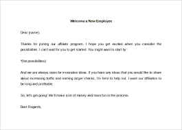 Wel e a New Employee Letter Template Word Editable Download