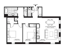 Modern 2 Bedroom Apartment Floor Plans Two Bedroom Apartment Plans Single Floortwo Garage Floor Planstwo