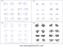 how to draw male anime eyes. Fine Draw How To Draw Anime Eyes  Male Printable Step By Drawing Sheet   DrawingTutorials101com Inside To H